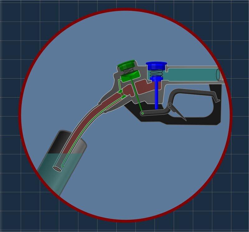 Как заправочный пистолет знает, что бензобак полон?
