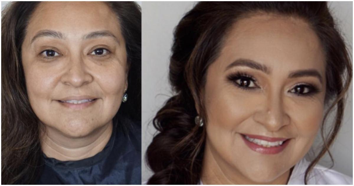 16 фото женщин до и после макияжа