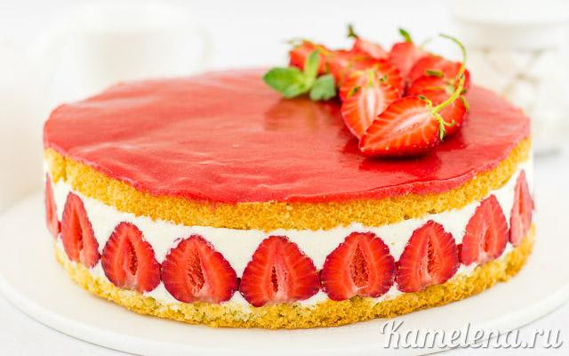 Торт «Фрезье» — 18 шаг