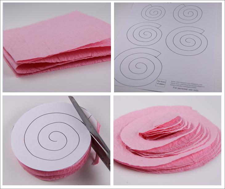 Розочки из бумаги своими руками для открытки