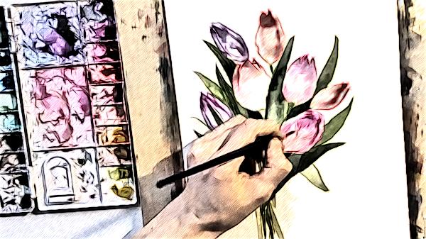 Закрой глаза... Рисуй со мной весну