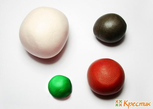 Лепка из полимерной глины: 4 различные фруктовые колбаски «Яблоко»