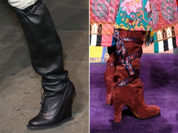 Модные сапоги осень-зима 2017-2018 с широким голенищем от Bottega Veneta и Etro