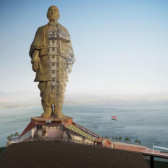 В Индии строят самую большую статую в мире