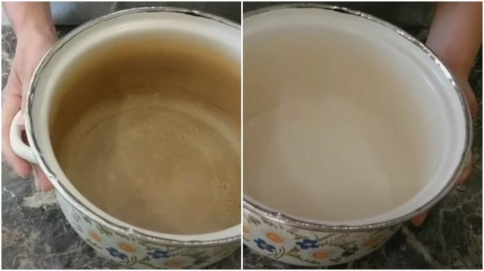 Нехитрый способ, как убрать накипь и известковый налет с эмалированной посуды