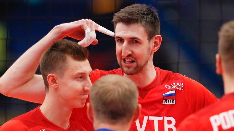 Мужская сборная России по волейболу обыграла Северную Македонию в матче ЧЕ Спорт