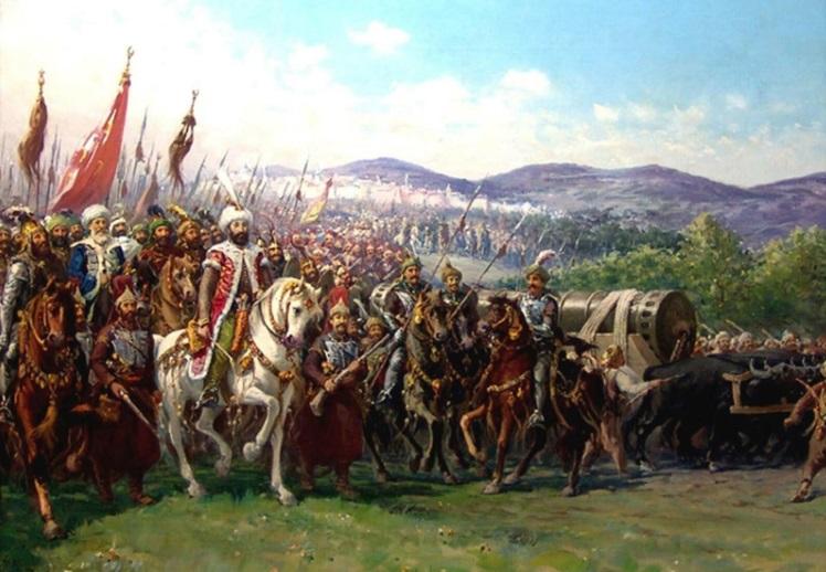 Турецкая армия на марше - Ахмед Паша