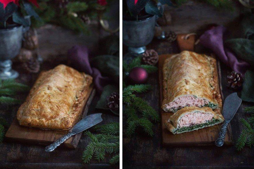 Быстрый пирог с рыбой и шпин…