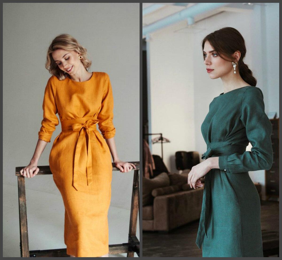 Как выбрать льняное платье