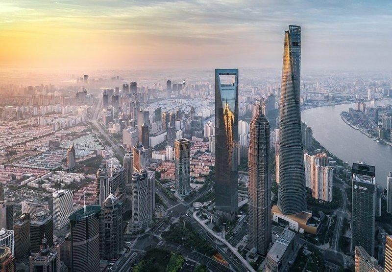 Небоскребы Шанхая виды, города, китай, красота, необыкновенно, пейзажи, удивительно, фото