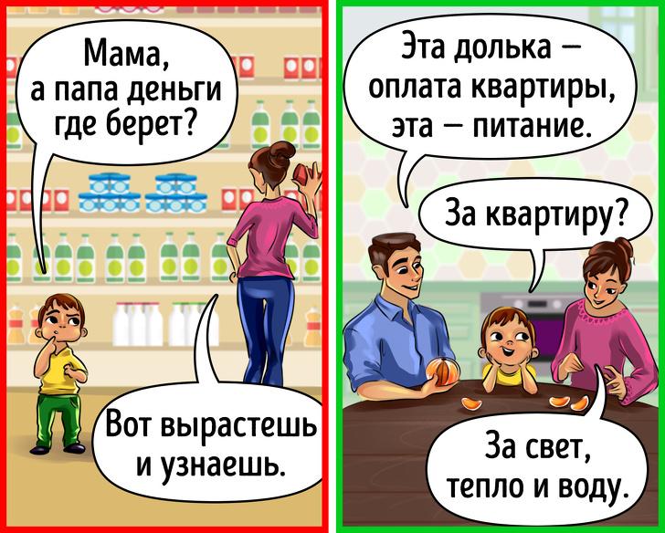 7правил финансовой грамотности для родителей маленьких детей (Чтобы в25лет деньги неутекали сквозь пальцы)