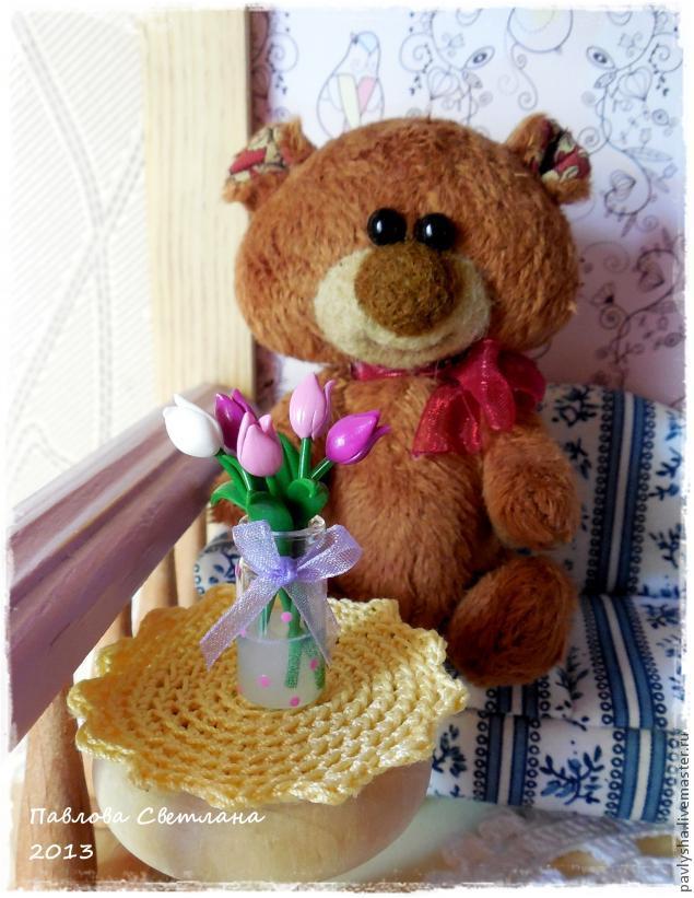 Миниатюрный букетик тюльпанов из полимерной глины ставим, лепестки, время, оборачиваем, фольгой, чтобы, запекания, цветочки, опустились, лаком, печку, убираем, фольгу, полного, аккуратно, остывания, Покрываем, внизСтавим, понадобятся, баночку