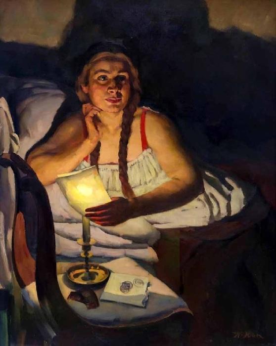 Портрет жены художника.  Автор: Константин Юон.