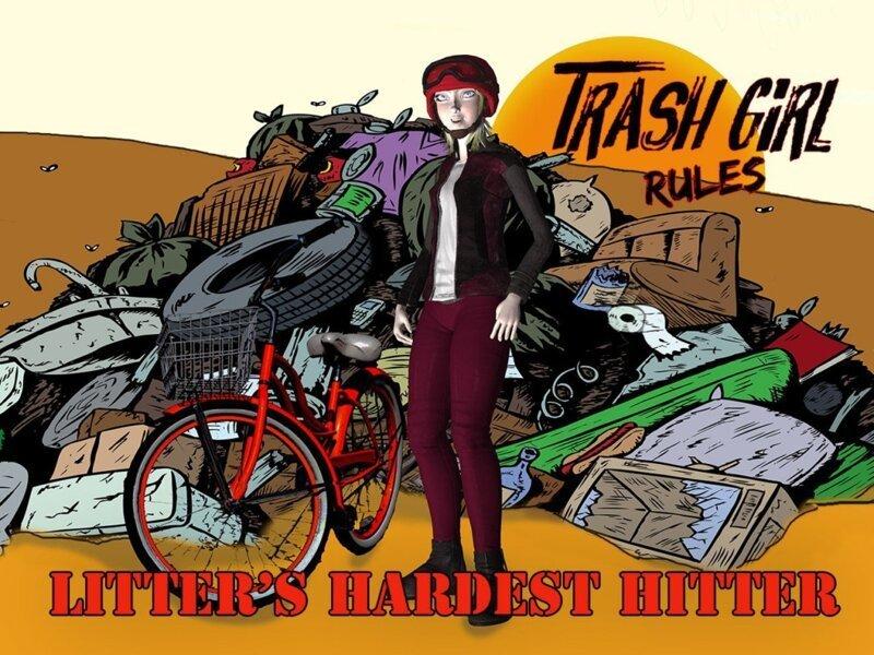 Надя в образе супергероини в мире, герой, люди, мусор, окружающая среда, уборка, чистота
