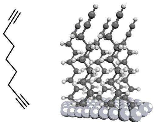 Создан диод из девяти атомов углерода