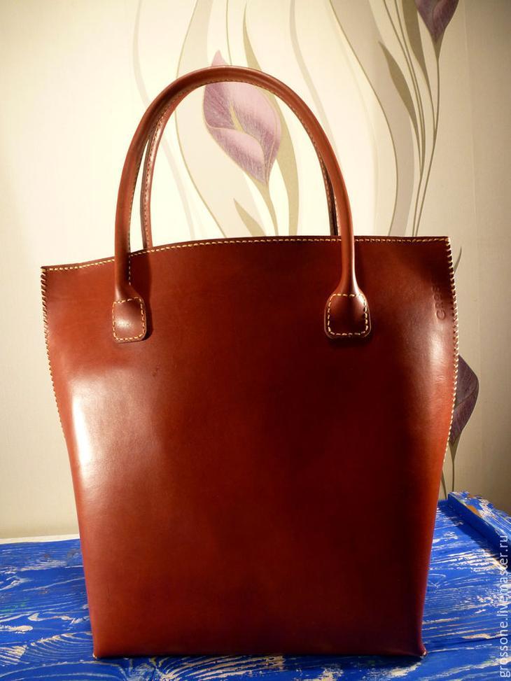 Шьем женскую кожаную сумку кожаная сумка,рукоделие,своими руками