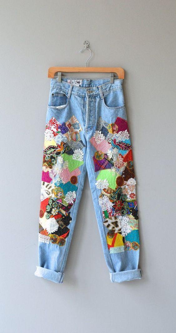 Цветочные джинсы (подборка)