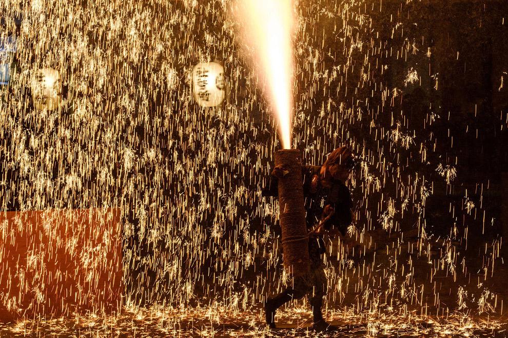 Самый крупный фестиваль фейерверков в Японии