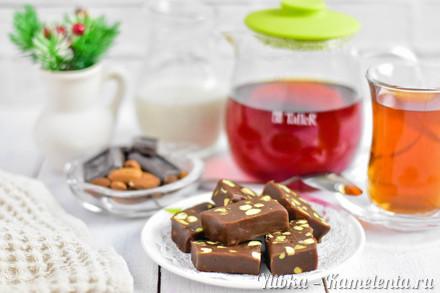 Приготовление рецепта Шоколадная помадка к чаю шаг 7