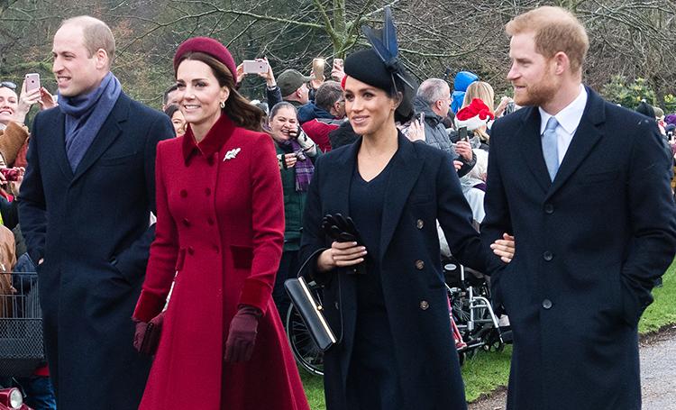 Кейт Миддлтон, Меган Маркл и другие члены королевской семьи на рождественской службе в Сандрингеме