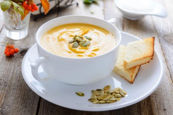 Нежнейший тыквенный крем-суп! Быстро, вкусно и очень полезно!