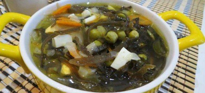 суп с морской капустой рецепт