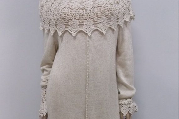 Идеи комбинирования ткани и вязания: восхитительные идеи от мастерицы