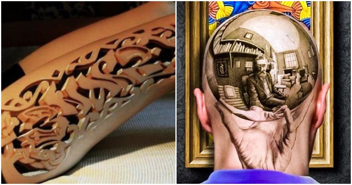 Невероятные 3-D татуировки, которые превзошли все ожидания