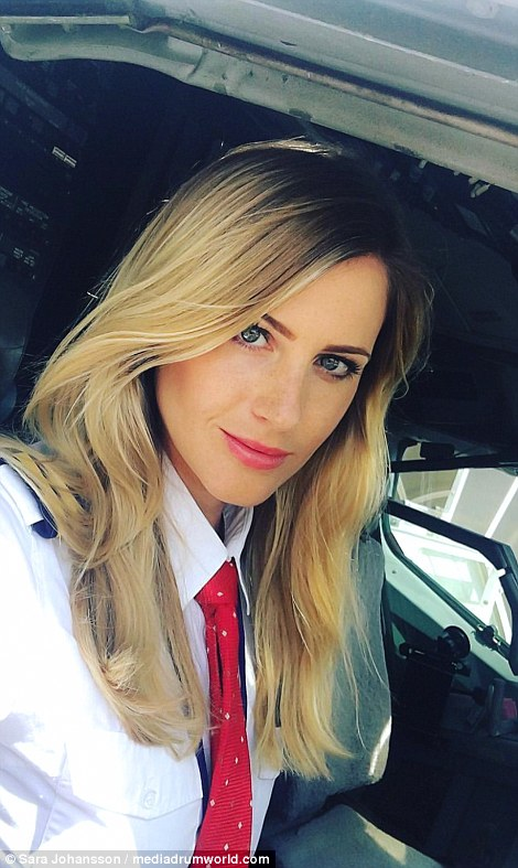 First officer Sara Johansson from Borås, Sweden, has amassed more than 22,000 followers