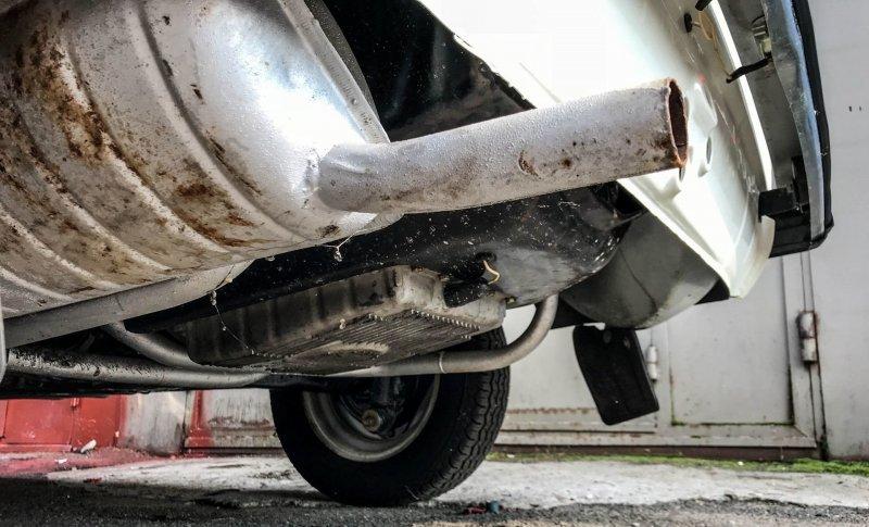 Легкие рыжики на родном глушителе ЗАЗ 968, авто, автомобили, заз, запорожец, капсула времени, ретро авто, янгтаймер