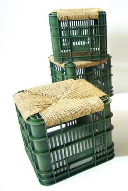Оригинальный способ обновить старый стул с помощью обычной веревки интерьер,переделки,рукоделие,своими руками,сделай сам