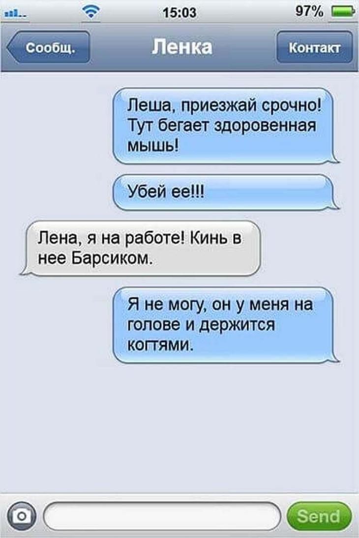 19 ну очень смешных SMS семейной пары