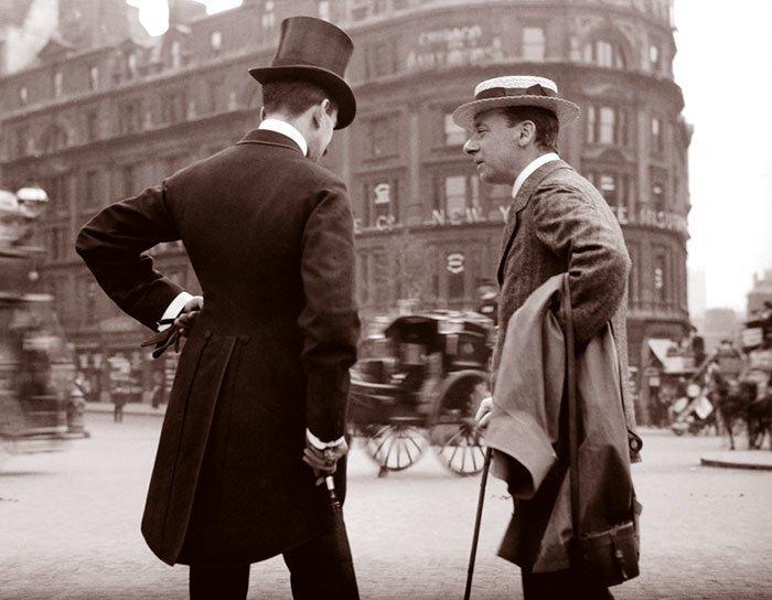 Лондонские джентльмены ХХ век, винтаж, восстановленные фотографии, европа, кусочки истории, путешествия, старые снимки, фото