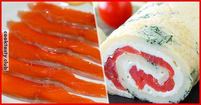 Рулет из красной рыбы &8212; нереальная закуска