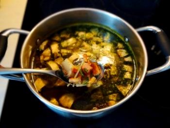 Суп с грудинкой и шампиньонами