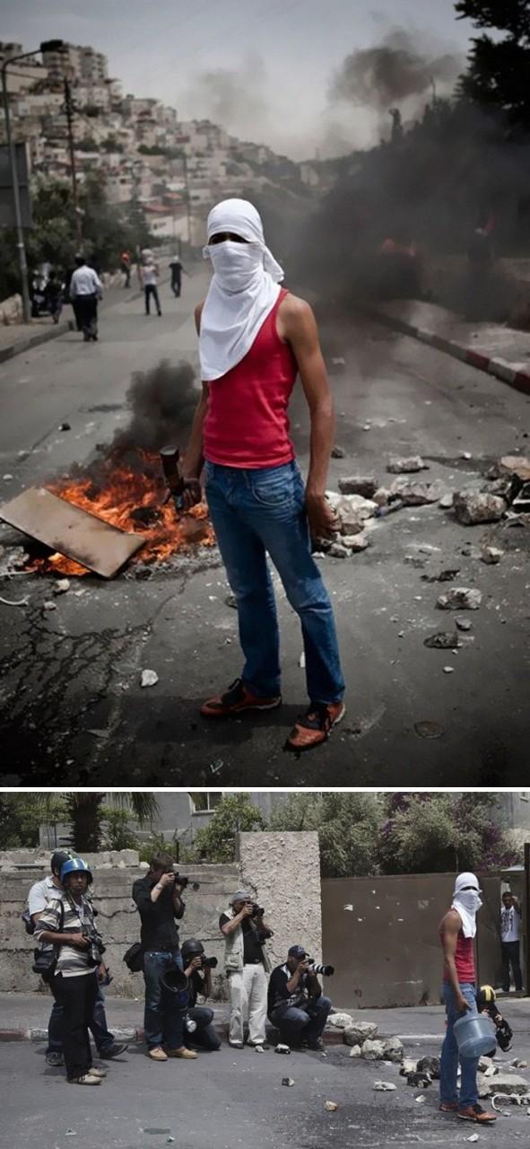 Антиизраильские протесты палестинских подростков. Юный герой на фоне огня... media, все дело в фокусе, манипулирование, новости наша профессия, познавательно, с какой стороны посмотреть, сми, фотографии