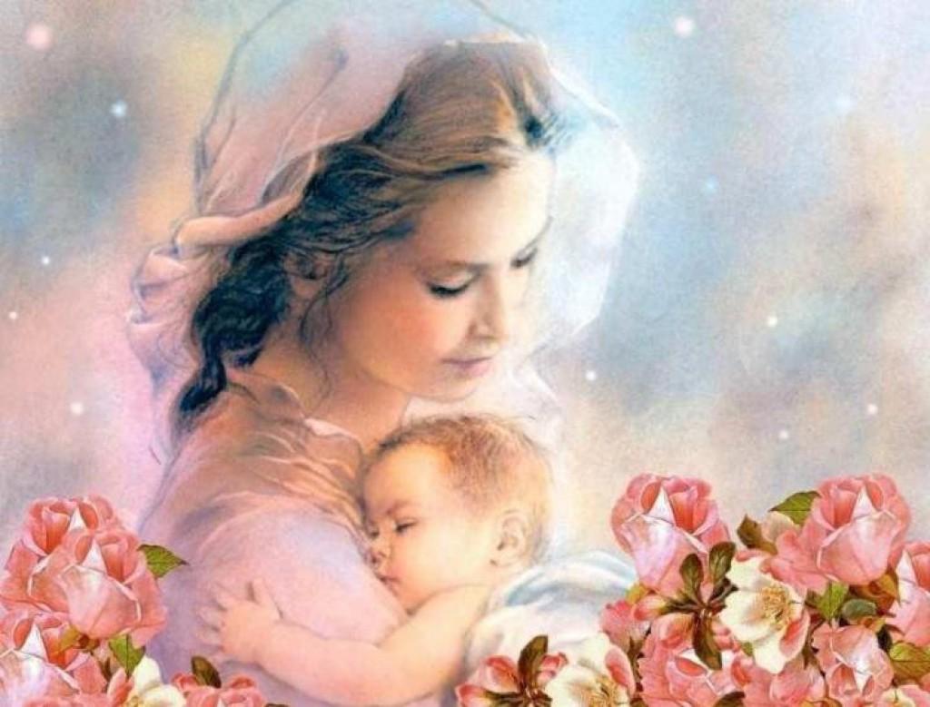 Красивые открытки мама и ребенок, марта