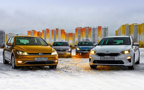 VW Golf и Skoda Octavia против Kia Ceed и Cerato: чья платформа круче