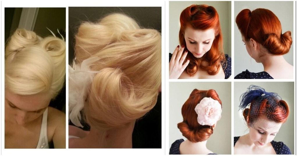 Стильные и сегодня ретро-прически на разную длину волос