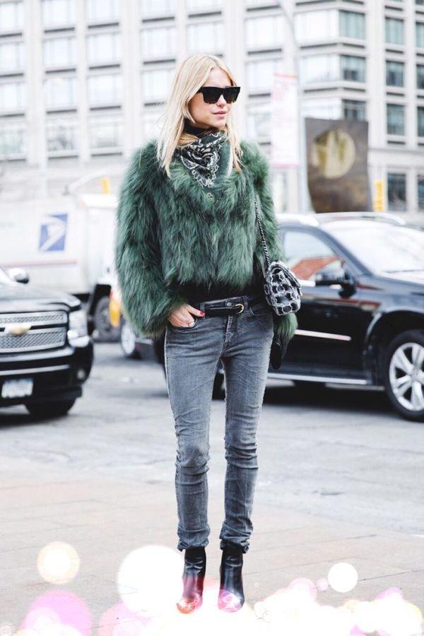 Образы с короткой меховой курткой