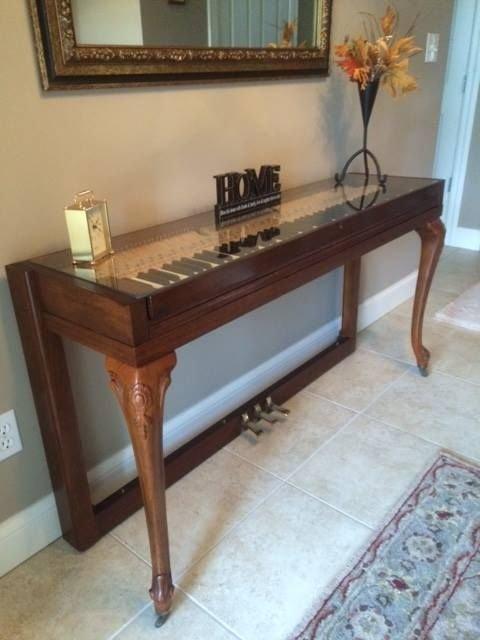 1. Из старого инструмента получилась прекрасная консоль Фабрика идей, переделки, пианино и рояли, своими руками