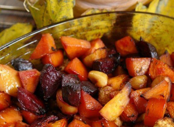 Овощи под медовым маринадом, запеченные в духовке