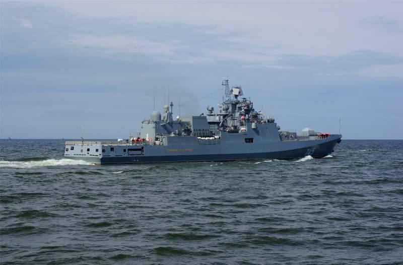 В Средиземном море прошли учения российских фрегатов