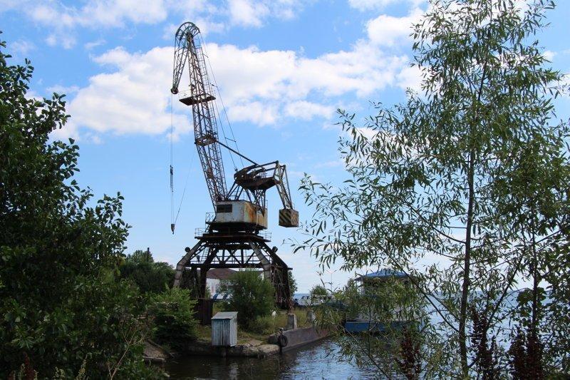 Портовый кран Города России, ивановская область, красивые города, пейзажи, путешествия, россия