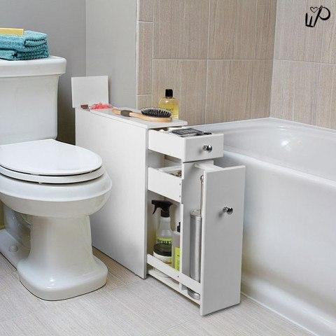 Как сэкономить место в ванной и туалете