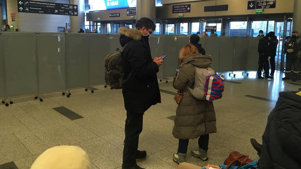 Перед прилетом Навального во Внуково начали пускать только по билетам внуково,Навальный,общество,прилёт,россияне