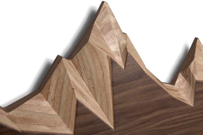 Вдохновением на создание такой простой, но креативной детали интерьера, послужила заснеженная вершина горы