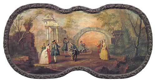 Галантные сцены в иллюстрациях Российского художника XVIII столетия.