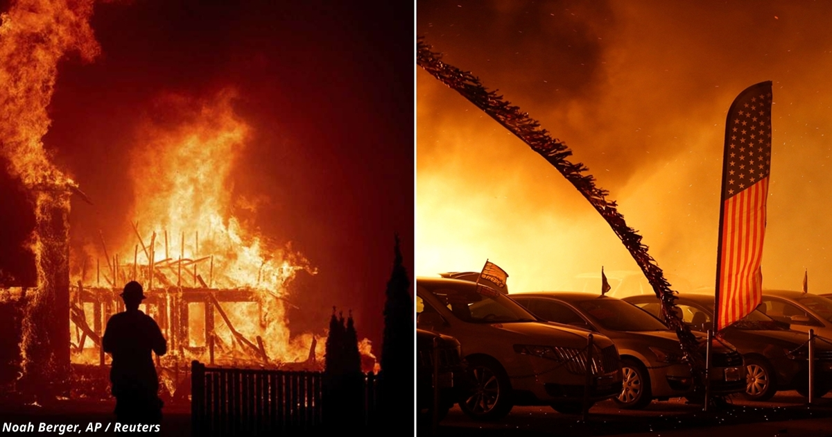 Пожар в Калифорнии «съел» почти целый город! Вот фото