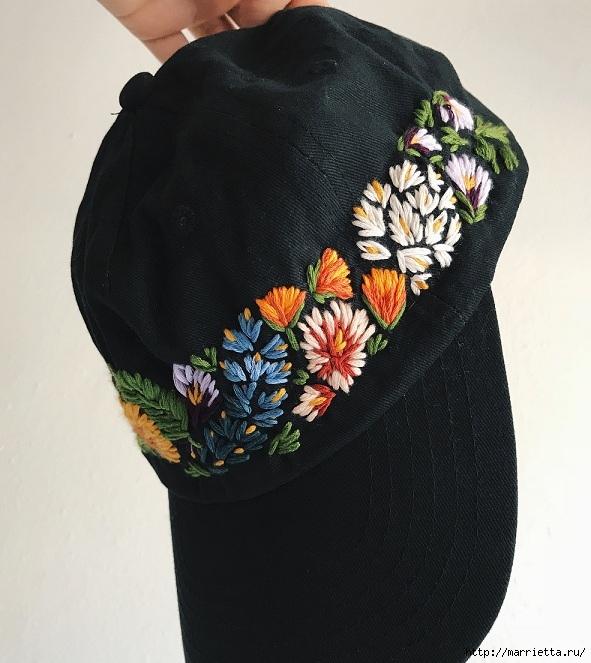 Вышивка на кепке. Идеи декорирования (4) (591x663, 225Kb)